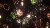 видео : 3D CG rendering of fireworks Стоковые видеозаписи