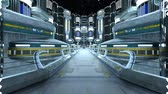 space station : 3D CG rendering of Cyber city Stock Footage