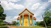fresk : Wat saphan Leuxk, the landmark of Buddhism, places of beauty. The temple has murals that are Buddhist stories of the Buddha. The temple is the largest reclining Buddha in Thailand at Chanthaburi. Timelapse