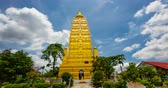 просветление : Wat Chom Pho ta Ya Ram,Bodh gaya Golden Pagoda Simulate From the holy place at India.In Thailand