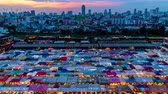 koupit : Time-lapse Day to Night : Night Market in the city of Bangkok. 4K