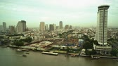 praya : Time Lapse of River Chao Praya in Bangkok, Thailand