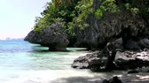 background : Landscape of El Nido. Palawan island. Philippines.