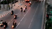 sathorn : Time Lapse of Bangkok street with cars moving very fast in Sathorn area Stock Footage