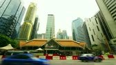 financial : Singapore street. Timelapse in motion