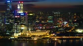 life : Singapore at night Stock Footage