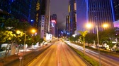 lifestyle : Street traffic in Hong Kong at night, 4k timelapse, 4096x2304px
