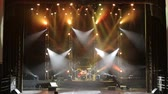 jokey : Colorful Stage lights at concert. Stage lights and smoke. Colored lights on an empty concert stage with smoke.