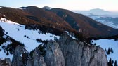 karpaty : Impressive Aerial Drone Shot Of The Romanian Mountain Ranges