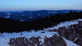 carpathians : Impressive Aerial Drone Shot Of The Romanian Mountain Ranges