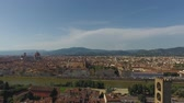 gözcü : Aerial view Beautiful city of Florence with the Cathedral of Santa Maria del Fiore, Florence, Tuscany, Italy