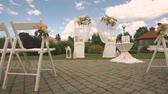hall : wedding decor Stock Footage