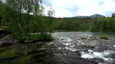 spódnica : River space near the town of Bjorli in Oppland, Norway. Wideo