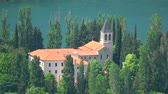 maiô : The Visovac Monastery is a Catholic monastery on the island of Visovac in the Krka National Park, Croatia.