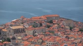 dalmatia : Dubrovnik is a Croatian city on the Adriatic Sea. It is one of the most prominent tourist destinations in the Mediterranean Sea. Stock Footage