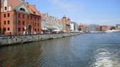wisła : Historic Old Town on the Vistula river in Gdansk - Poland. Wideo