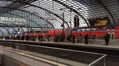 kareta : Central station of Berlin with passengers and train traffic - Germany.