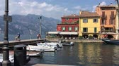 harbour : Port of Malcesine on Lake Garda - Italy.