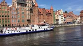всемирного наследия : Cityscape of Gdansk with ship on the river Motlawa - Poland.