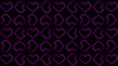 marry : The Heart Backgrounds Motion Graphics Featuring Valentine%u2019s Day Animated Shapes and Particles. Stock Footage
