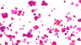 süsleme : The Falling Polygonal Heart Shapes Background Motion Graphics Featuring Valentine's Day Animated Shapes and Particles. It Can Be Used in Wedding Videos, Presentations and VJ Loops and Screen Saver