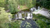 calcário : Aerial Landscape of the Keila Waterfall Estonia Located on Keila River in Harju County. A Full 6 Metres High, and Tens of Metres Wide, is the Third Largest Waterfall in Estonia