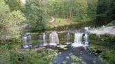 maravilha : Aerial Landscape of the Keila Waterfall Estonia Located on Keila River in Harju County. A Full 6 Metres High, and Tens of Metres Wide, is the Third Largest Waterfall in Estonia