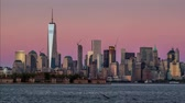 4k : Sunset time lapse of the Lower Manhattan skyline