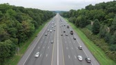 trikot : Aerial view of I80 highway in New Jersey with vertical tilt effect Dostupné videozáznamy