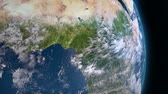benin : Earth 3d view from space. Central Africa.