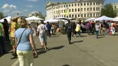 sity : Kiev, Ukraine, September 2017: - people are walking around the city, on the street fair, on Kontraktova Square.