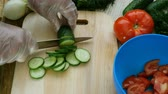 dill : Homemade vegetarian healthy food. Cooking on a wooden cutting board.