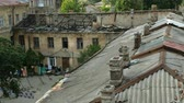 オデッサ : It was destroyed in the city of Odessa. Bad living conditions. Housing poor people. Close-up. 動画素材