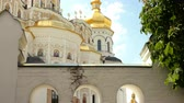 kyiv : Orthodox Christian monastery. Golden domes of the Kiev Cathedral of Pechersk Historic cultural sanctuary. Kyiv Pechersk Lavra, Kiev, Ukraine.
