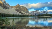 landmark : Bow Lake, Alberta, Canada Stock Footage