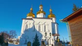 Hyperlapse video of a church, monastery in Siberia