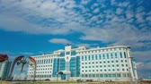 Timelapse shot of Government building of Yamal