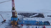 Aerial View Of Oil Drilling in Western Siberia