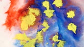 watercolor : Color abstraction of paint
