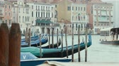 setembro : Scenery with Gondolas in Venice on September, 2013 in Venice, Italy
