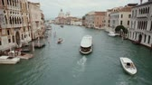 canal : Ferry sails on the Grand Canal in Venice on September, 2013 in Venice, Italy