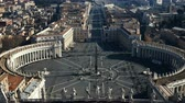 Рим : Stop motion video of the Saint Peters square, view from the dome of Saint Peter Basilica in the Rome, Italy. Стоковые видеозаписи
