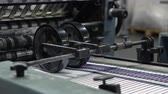 publicar : equipment print factory conveyor belt in a printing press Stock Footage