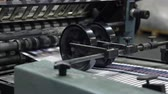 jornal : typography machine working print factory Stock Footage