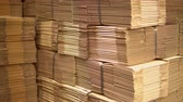 アドレス : cardboard boxes in warehouse or factory waiting for packing and shipping 動画素材