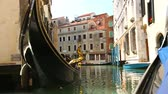 romance : View from gondola during the ride through the canals of Venice, Italy