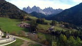 santa magdalena : Santa Maddalena village in front of the Geisler or Odle Dolomites Group, Val di Funes, Trentino Alto Adige, Italy, Europe.