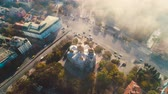 Varna, Bulgaria city centre and The Cathedral of the Assumption, aerial drone view
