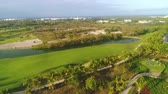 Aerial view of tropical Caribbean beach resort and golf course. Punta Cana