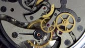 rubi : The mechanism of analog hours. working clock mechanism. A photo close up